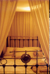 Matrimonial Bed - The 4 poster with curtains for the blushing bride.