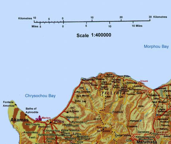 Road Map of Cyprus