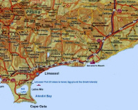 map of cyprus - Limassol region