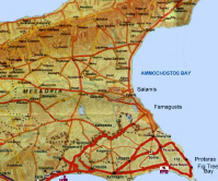 map of cyprus - Ayia Napa / Protaras region