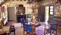 The pretty Carythia cottage set in lovely gardens near Pafos in Cyprus