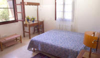 The pretty Carythia cottage - one of the bedrooms - near Paphos in Cyprus