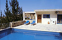 Swimming pool facilities at the Villarette in Cyprus