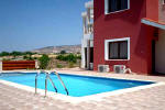 Pool area in Peyia holiday home
