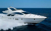 Azimut 55 for chskippered charter in Cyprus.