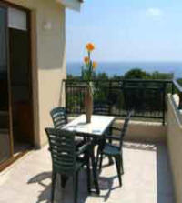 Ellas villa to rent in Kissonerga Paphos, Cyprus on a weekly basis - balcont with sea view