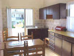 This 3 bedroom apartment in Polis Chrysochous has a fully fitted kitchen which has wheel chair access throughout.