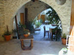 The delightful courtyard at Kontoyiannis in Kalavassos  Cyprus