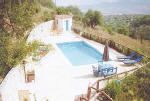 Kritou Terra villa, an authentic agrotourism property - swimming pool with views.