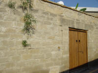 Yasmini villa in Tochni in Cyprus - Part of the Agrotourism project - a carefully restored self catering villa for your holiday rentals in Cyprus - The courtyard walls